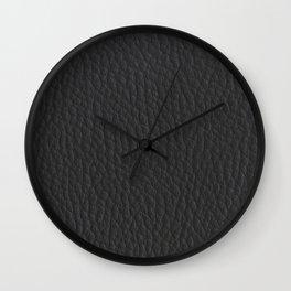 Leather like grey pattern Wall Clock