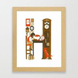 H as Horloger (Watchmaker) Framed Art Print