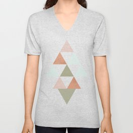 Being Mindful, Geometric Triangles Unisex V-Neck