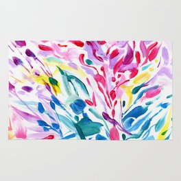 Abstract Roses 2 Rug