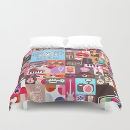 Graphic Art Design Duvet Cover