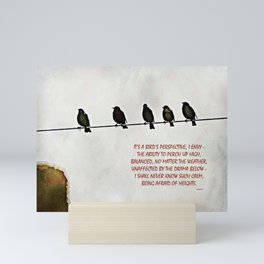 A Bird's Eye View Mini Art Print