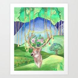 Magic Forest Friend Art Print