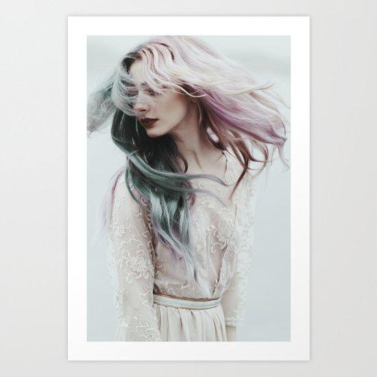 Pink wind Art Print