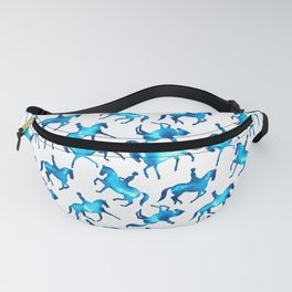 Turquoise Dressage Horse Silhouettes Fanny Pack