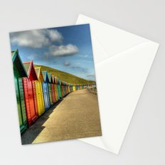 Whitby Beach Huts Stationery Cards