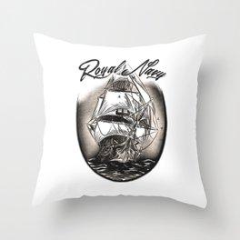 Royal Navy Throw Pillow