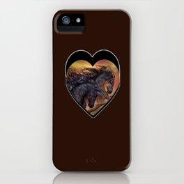 HORSES - On sugar mountain iPhone Case