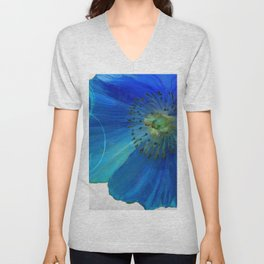 Poppy Blues I Unisex V-Neck