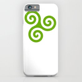 Triskele | Off Axis - Celtic Triad or Trinity Symbol iPhone Case