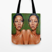 swan queen Tote Bags featuring Swan by BookOfFaces