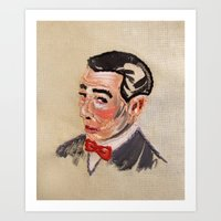 pee wee Art Prints featuring Pee Wee Herman by Allison K.