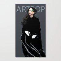 artpop Canvas Prints featuring Artpop by Annike
