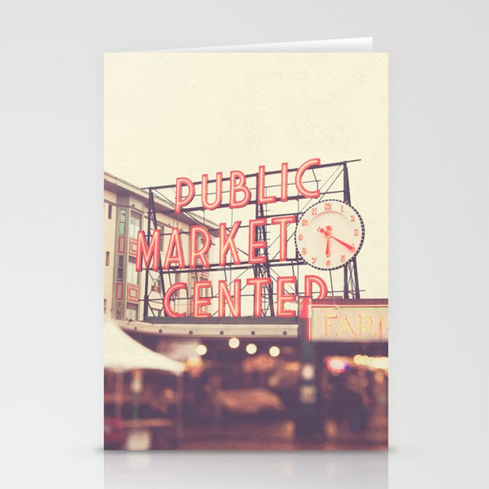 Seattle Pike Place Public Market photograph, 620 Stationery Cards