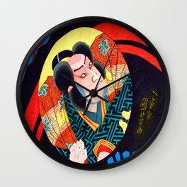 Utagawa Kuniyoshi Kabuki Actor Wall Clock