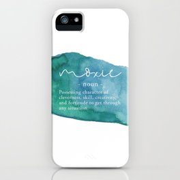 Moxie Definition - Blue Watercolor iPhone Case