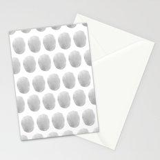Watercolour polkadot grey Stationery Cards
