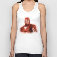 ironman Tank Tops featuring Ironman by KitschyPopShop