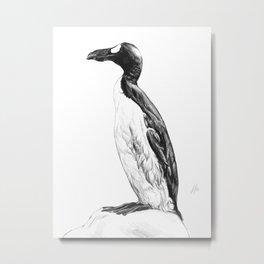 Extinction - Great Auk Metal Print