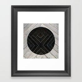 Black Kiss Framed Art Print