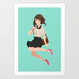 G R A V I T Y  G I R L Art Print