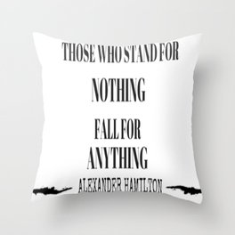 AlexanderHamilton - Quote Throw Pillow
