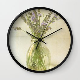 Lavender and Milk Wall Clock