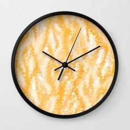 Honey Gold Tropical Abstract Wall Clock