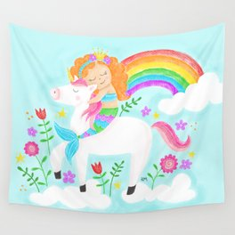Unicorns, Mermaids & Rainbows...Oh My! Wall Tapestry