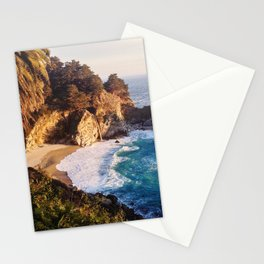 Golden Sunshine on California Waterfall - Big Sur Stationery Cards