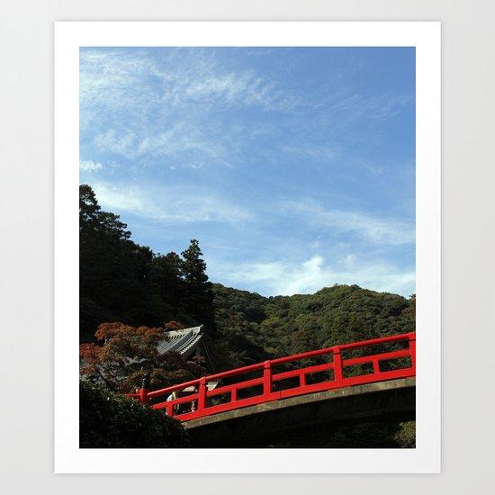 Red Bridge Art Print