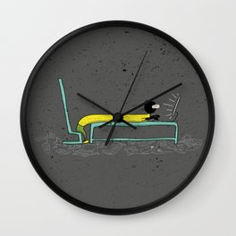 Pure Laziness by Thao Vu Wall Clock