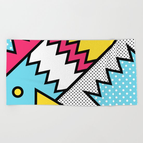 ZigZag 80s Memphis Pattern Beach Towel