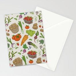 Farmer's Market: Veggies & Fruit Stationery Cards