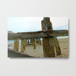 The strength renewed at the turn of the tide. Metal Print