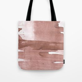 Rosy brown streaked wash drawing Tote Bag