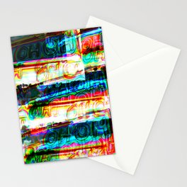 Oh Oh Neon Layer Dark Stationery Cards