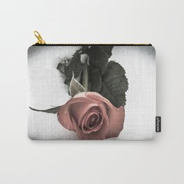 Rose resting in the snow Carry-All Pouch
