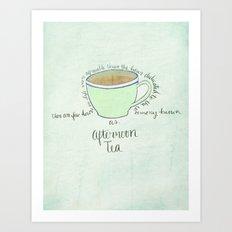Afternoon Tea Art Print