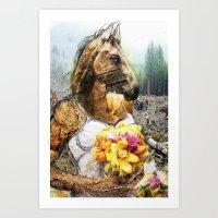 Mrs. Horse Art Print