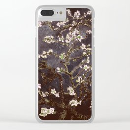Vincent Van Gogh Almond Blossoms dark gray slate Clear iPhone Case