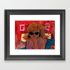 Pin-Up: Dotty Gal Framed Art Print