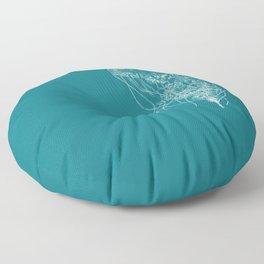 Jellyfish (blue) Floor Pillow