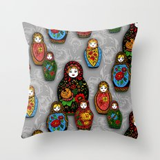 Matryoshki pattern Throw Pillow