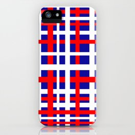 Patriotic Interlocking Stripes iPhone Case