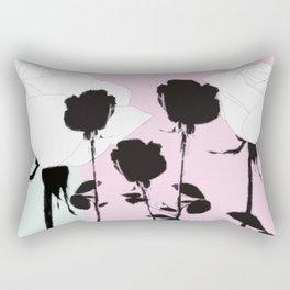 Roses with ink Rectangular Pillow