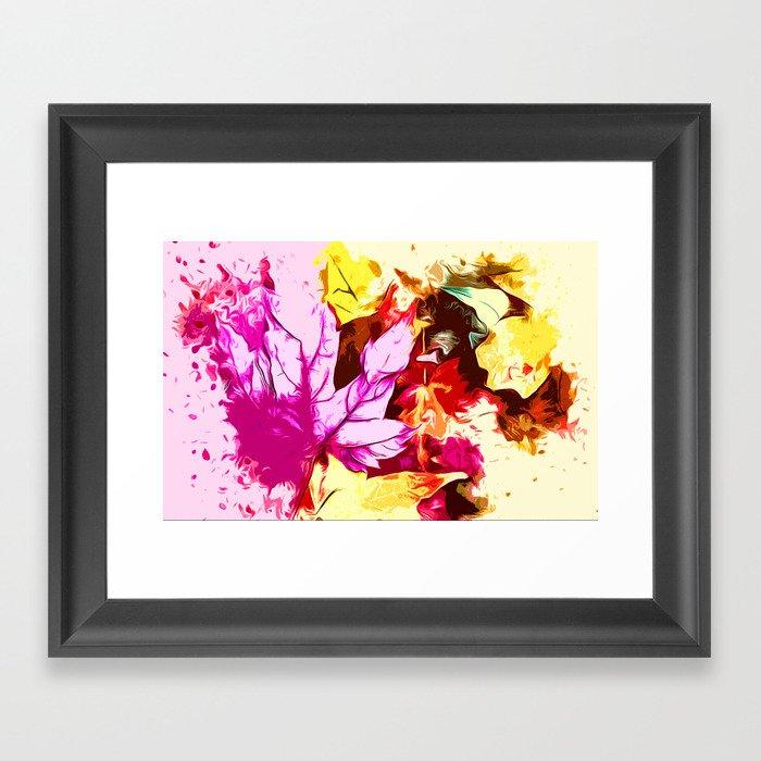 Colours in autumn Framed Art Print