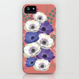 Anemones collection: bouquet II iPhone Case