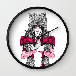Runs with Wolves Wall Clock