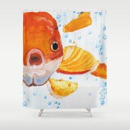 Bubbles Goldfish Shower Curtain
